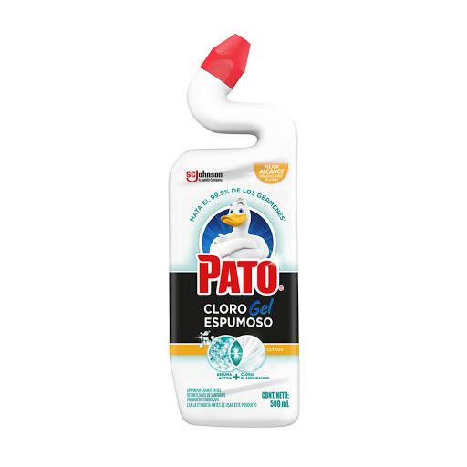cloro en gel pato citrus 500ml Limpiador desinfectante de inodoros. Mata 99,9% de bacterias.