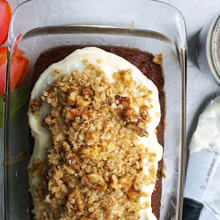 Whole Wheat Date Nut Bread with Cardamom Crumble and Honey Cream Cheese Icing Recipe