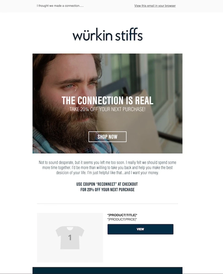 Example of a lifestyle email marketing campaign