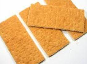 Take the graham crackers and break them up into individual pieces.