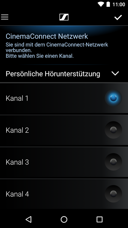 Sennheiser CinemaConnect – Screenshot