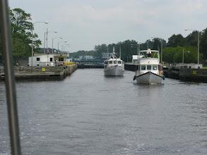 Photo: Locking through at Great Bridge Lock (photo from Sweet Pea)