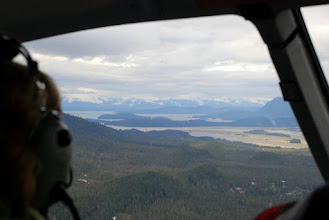 Photo: View to north, shipping channel to Juneau