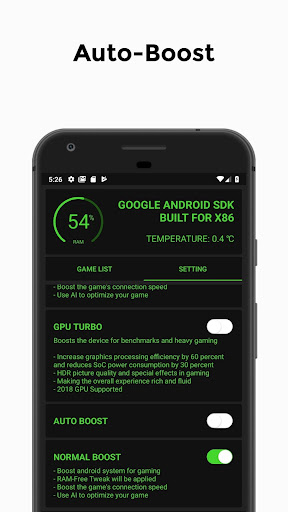 Screenshot for Game Booster  4x Faster (with advance settings) in United States Play Store