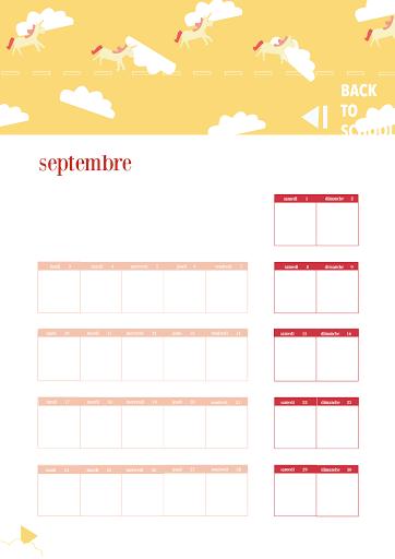 Calendrier 2018 - septembre