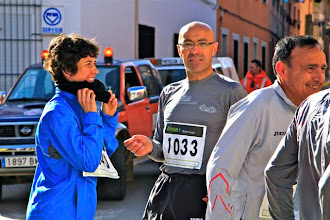 Photo: EVA, ANTONIO B, ANTES DE COMENZAR, LA CARRERA