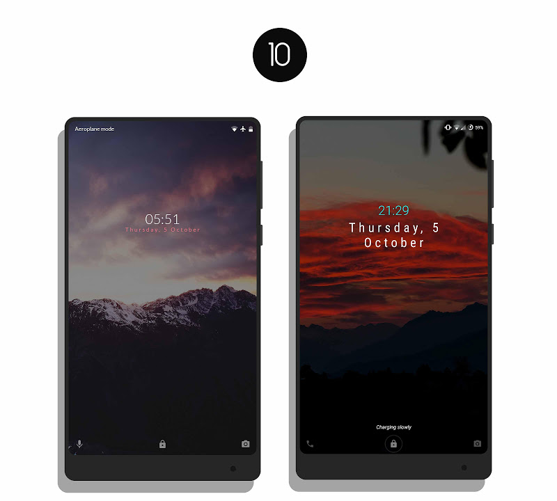 MNML Digital Clock Mods [Substratum] Screenshot 9