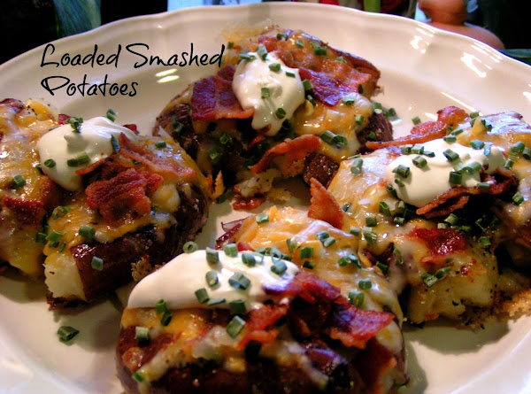 Loaded Smashed New Potatoes Recipe