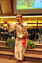 Photo: The performance was at The Salvation Army Central Territorial Worship Arts Retreat.  Permission granted to use photographs for promotional purposes only.  Artwork by Jim Warren.