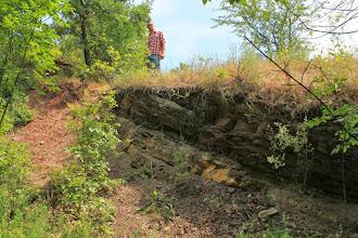 Photo: A Bodától északra lévő domori alapszelvény a perm időszak végi Kővágószőlősi Homokkő Formáció Bakonyai (Homokkő) Tagozatát tárja fel