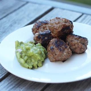 Paleo Greek Meatballs with Avocado Tzatziki