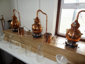 Photo: Adnams uses these small test stills to come up with new versions of their house gin.