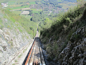 """Photo: Halfway up the """"funiculaire"""""""