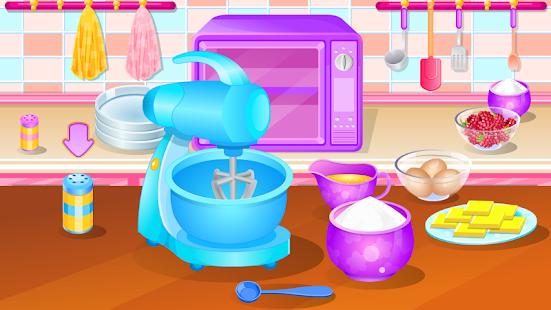 vaření hry dort jahody - náhled
