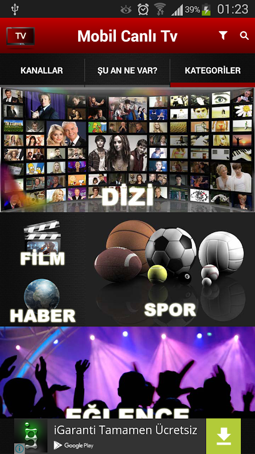 Mobil Canlı Tv- screenshot