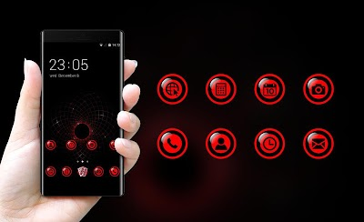 Cool Dark Red Tech Theme for Lenovo K8 Note APK Download - Apkindo co id