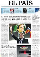 """Photo: El fiscal denuncia las """"calumnias"""" contra Mas que airea el Gobierno, Merkel trata de imponer más recortes en el presupuesto europeo y Mourinho lanza un nuevo pulso al Madrid, en nuestra portada del viernes 23 de noviembre http://srv00.epimg.net/pdf/elpais/1aPagina/2012/11/ep-20121123.pdf"""