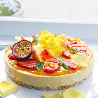 Raw Mango and Passionfruit Summer Celebration Cake Recipe