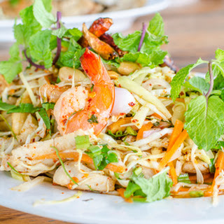 Grilled Chicken Asian Salad.