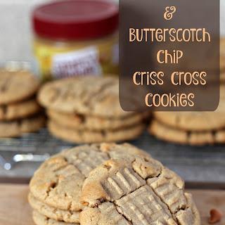 Peanut Butter and Butterscotch Chip Criss Cross Cookies