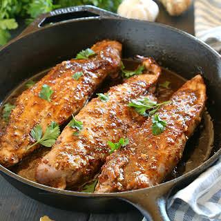 One Pan Sweet Ginger Glazed Pork Tenderloin.