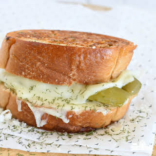 Dill Pickle Grilled Cheese Sandwich.