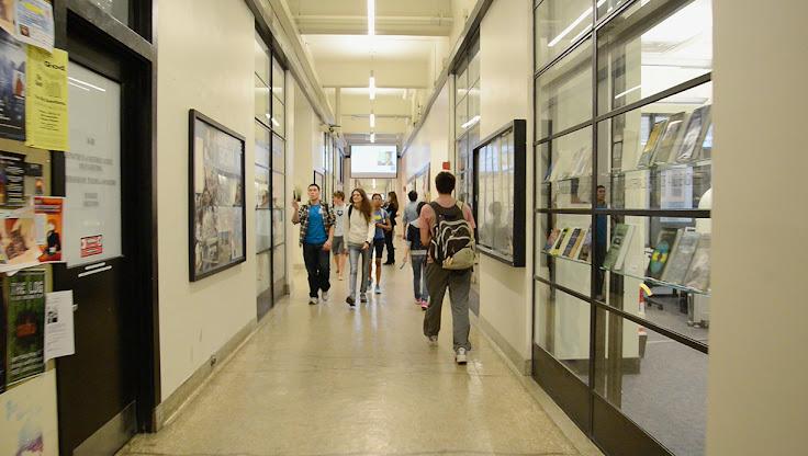 The Infinite Corridor at MIT.