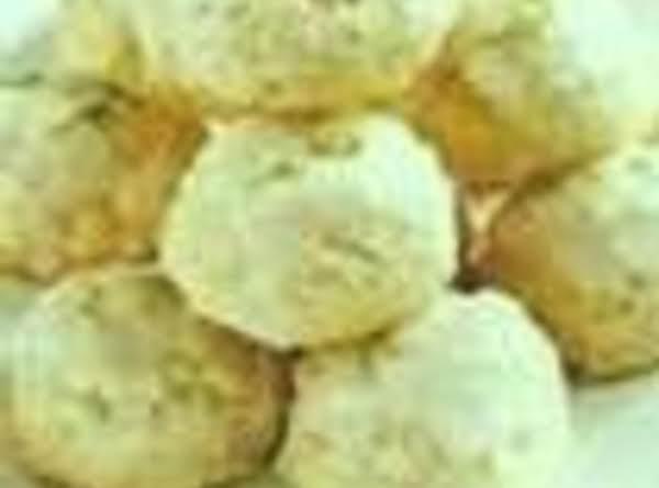 Green Peppermint Meltaway Cookies,grandma's Recipe