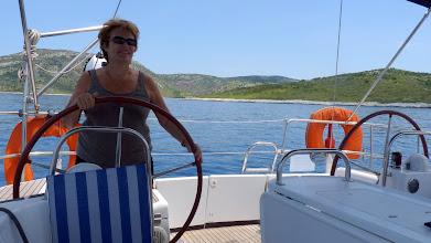 Photo: Leaving Kyra Panagia to sail a bit