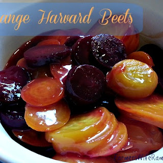 Orange Harvard Beets.