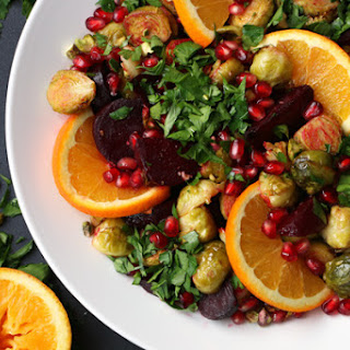 Roasted Beetroot, Brussels Sprouts and Pomegranate Salad Recipe