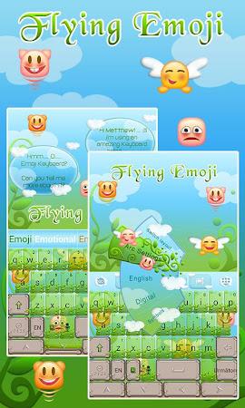 Flying Emoji GO Keyboard Theme 3.87 screenshot 662627