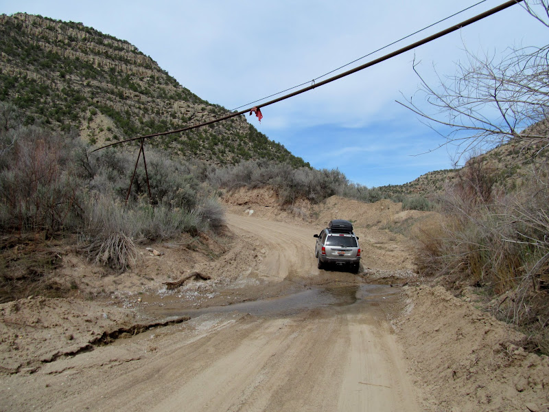 Photo: Gas pipeline over Westwater Creek