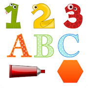French and English Numbers Letters Shapes Colors
