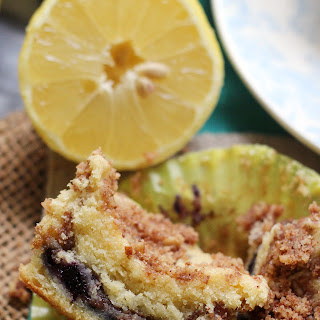 Lemon Blueberry Sour Cream Coffee Cake Muffins