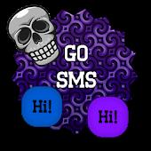 GO SMS THEME - Skull Freak 3