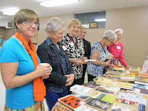 Photo: Book loving Grannies get good deals at the Grannies a Gogo Book Exchange.