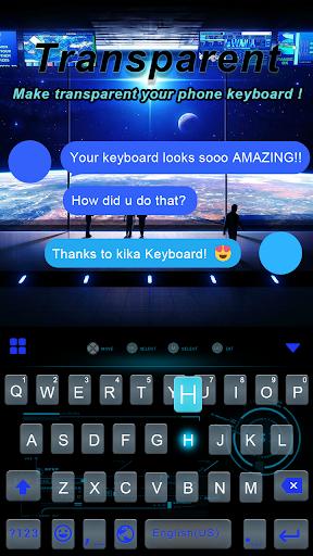 Transparent iKeyboard theme