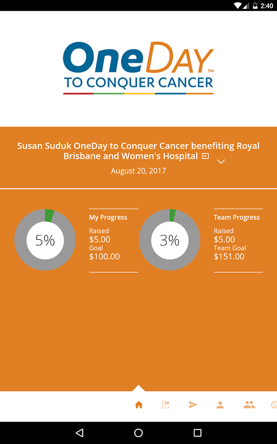 OneDay to Conquer Cancer- screenshot