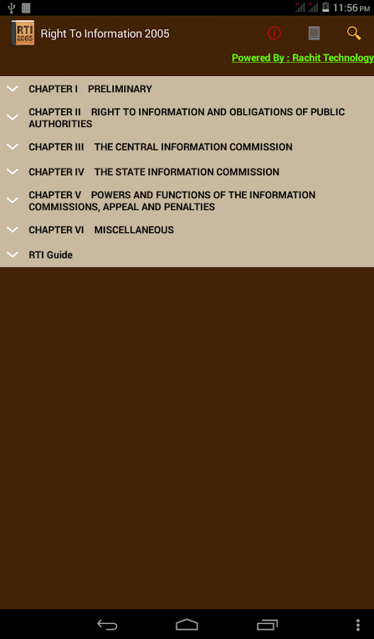 rti act 2005 features Right to information 2005 is free on rti act in india the right to information act (rti) of information act, 2002 app features--complete rti act.