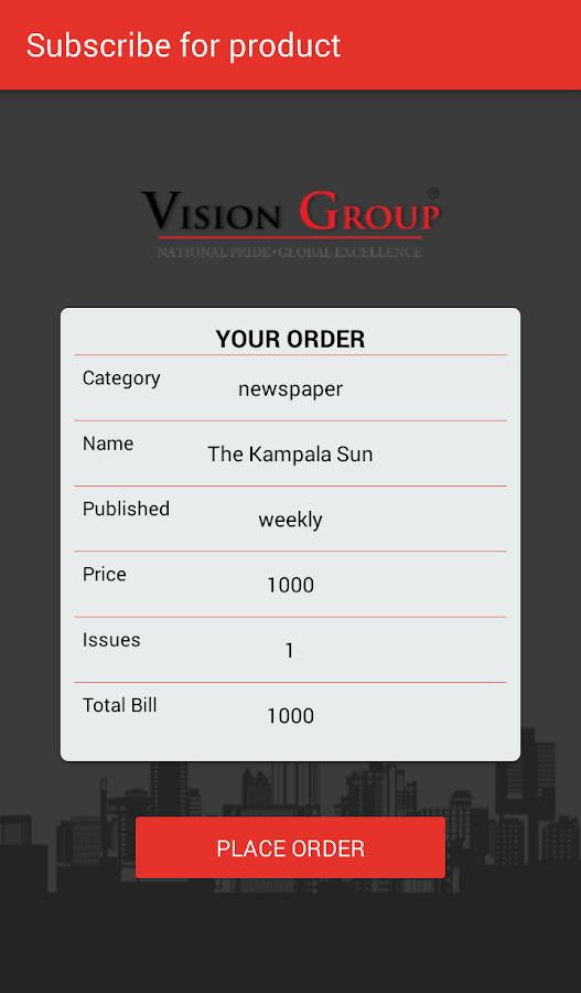 Vision Group Store- screenshot