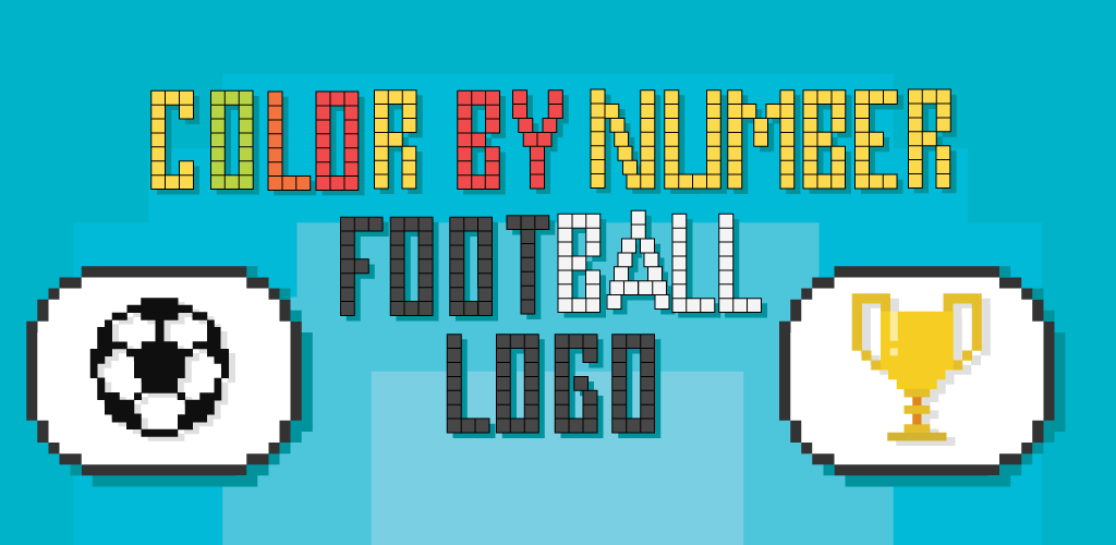 Télécharger Pixel Art Football Logo Coloring Color By