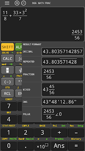 Real scientific calculator - symbolic 570 es free Screenshot