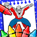 Spider Boy coloring Super Heroes of woman's icon
