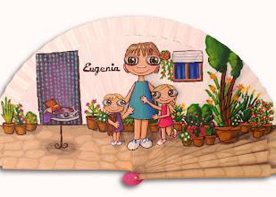 Photo: Abanico de madera pintado a mano con acrílico, 23 cm. Los realizo por encargo, Personalizables, consultar colores disponibles y precio según ilustración.