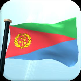Эритрее Флаг 3D Бесплатных