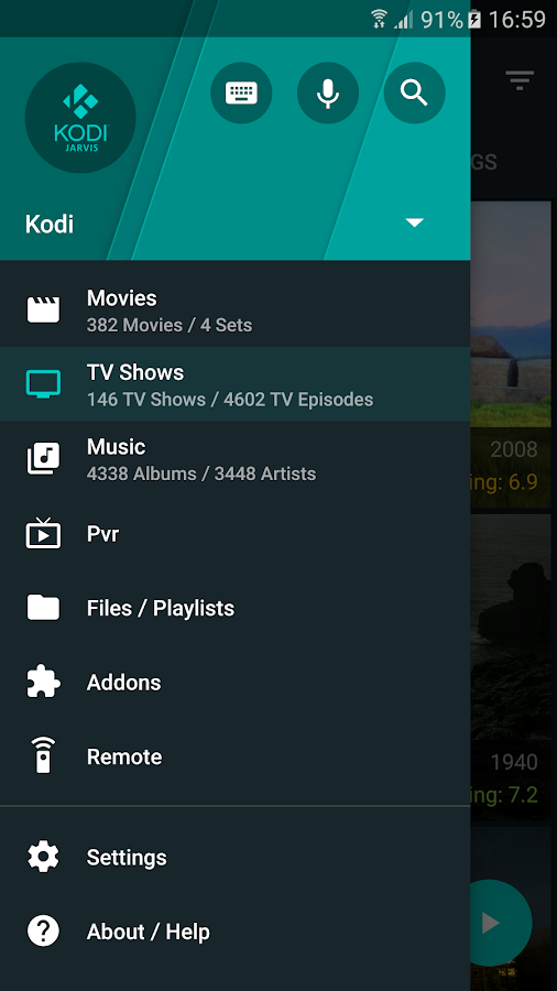 Yatse, the Kodi Remote – Capture d'écran