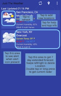 Just The Weather for PC-Windows 7,8,10 and Mac apk screenshot 1