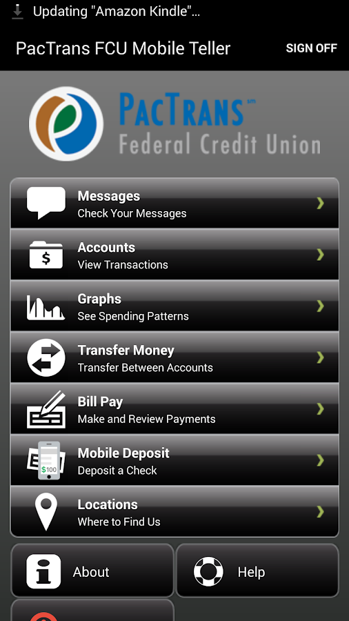 PacTrans FCU Mobile Teller- screenshot