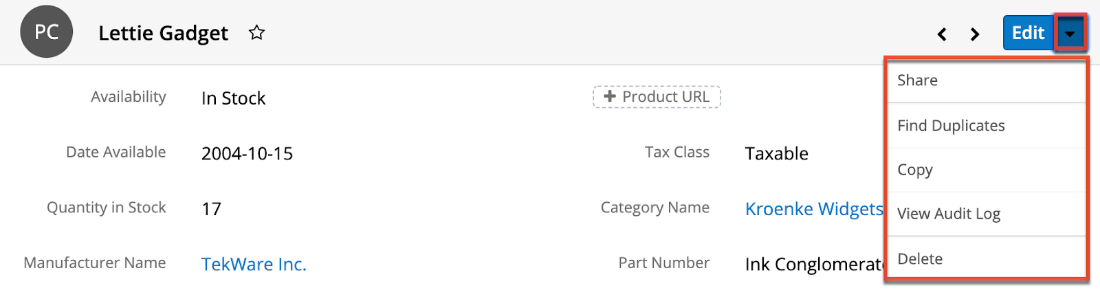 bhea-sugarcrm-product catalog